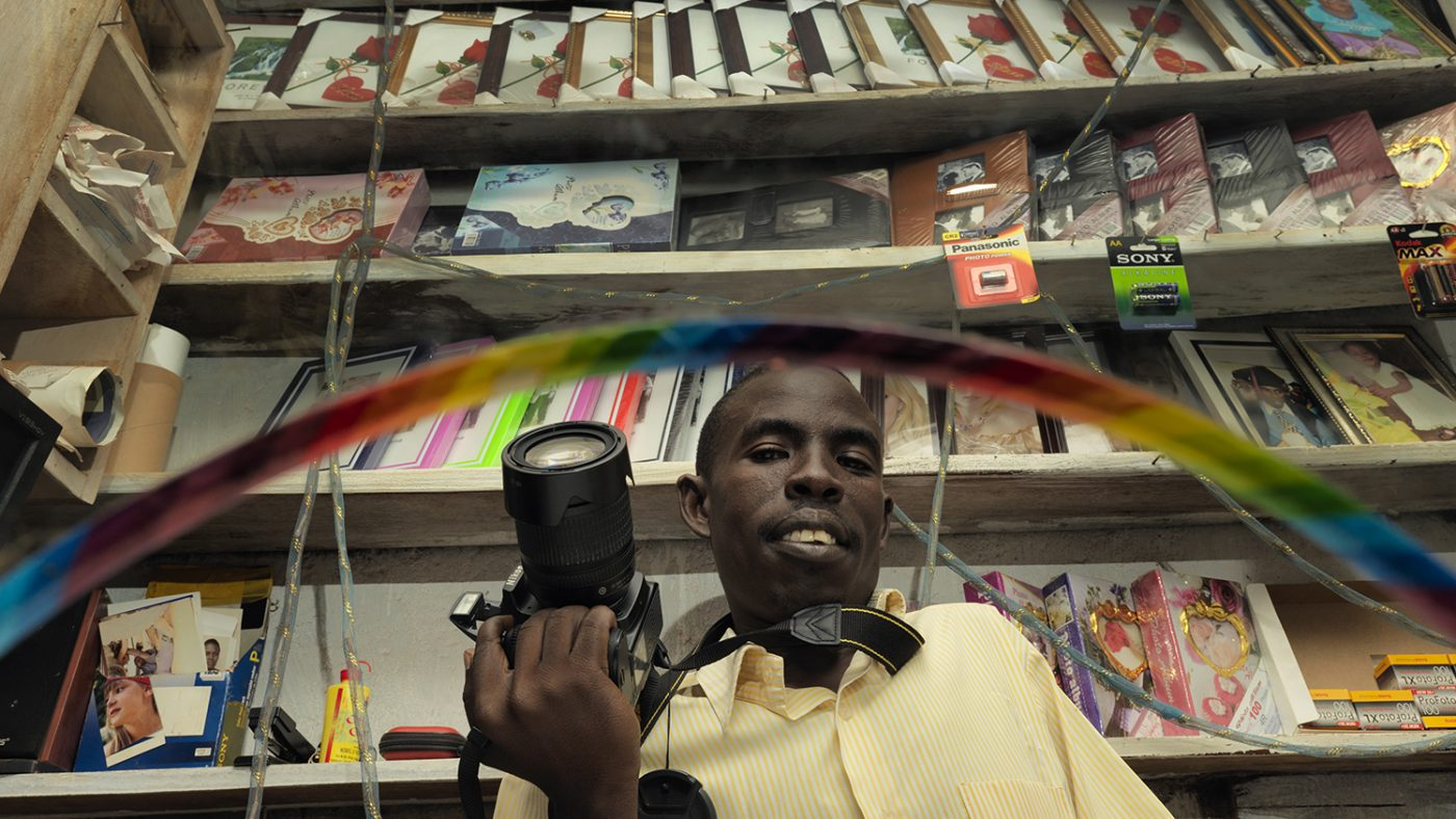 Rajab in his photography studio.
