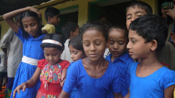 Children attend school in Bangladesh.