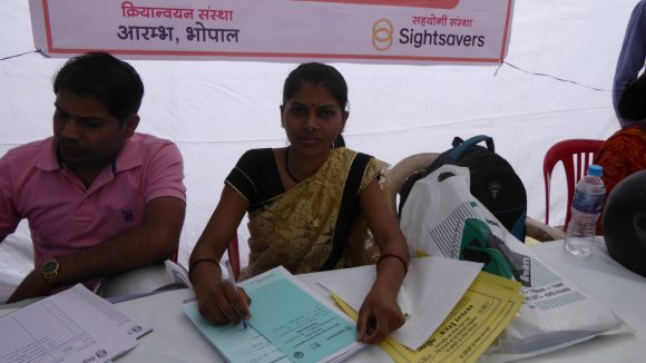 Data collectors working in Bhopal, India.