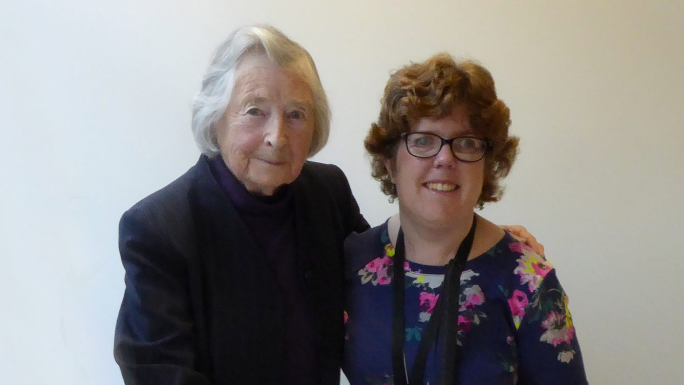 Lady Jean Wilson with Sightsavers' Kate Bennell during her visit.