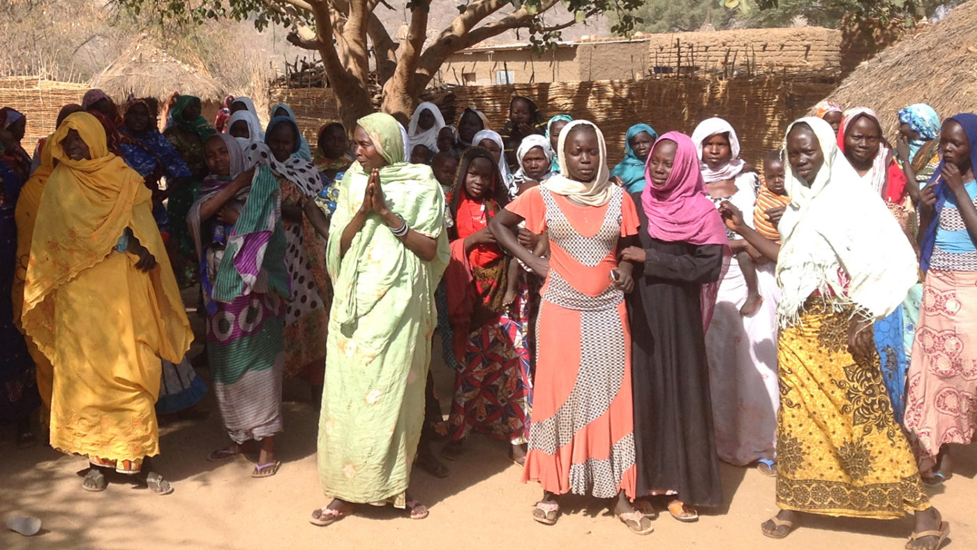 Women gather in their village in the Guera region in southern Chad.