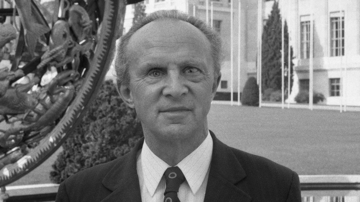 Sightsavers founder Sir John Wilson in 1976.