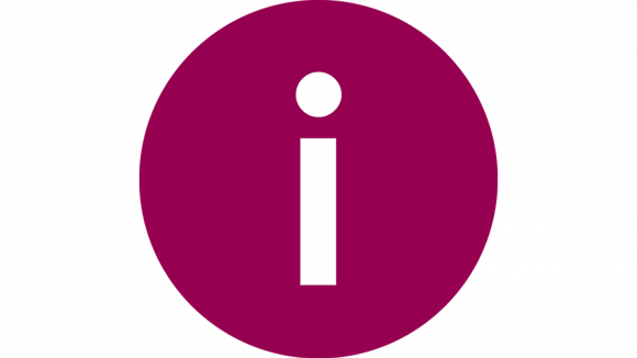A circular purple icon with a white letter I in the centre.