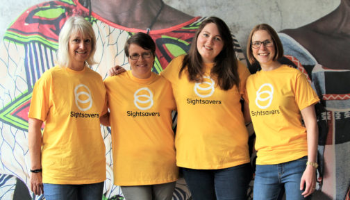 A photo of the four members of Sightsavers' Supporter Care team