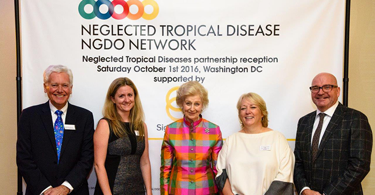 Sightsavers President HRH Princess Alexandra at the Neglected Tropical Diseases NGDO Network (NNN) conference partnership reception