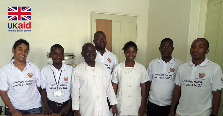 Sightsavers' CATCH team in Mozambique.