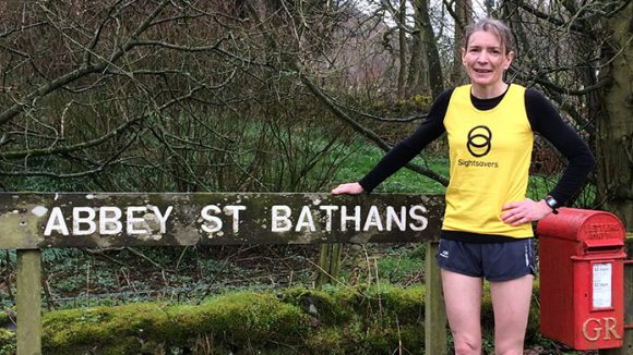 Chris Gordon, a Sightsavers supporter, training for the London Marathon.