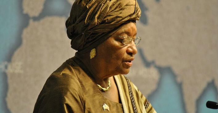 Liberia's President, Ellen Johnson Sirleaf