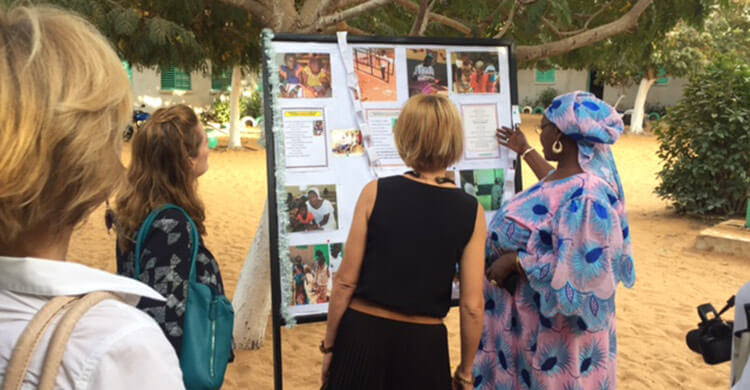 An information board outside the school detailing their inclusive education programme