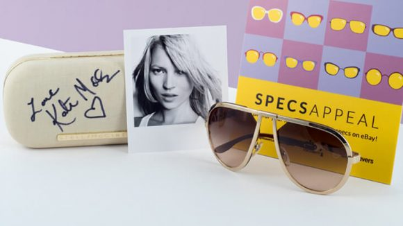 Celebrity Kate Moss's sunglasses donation