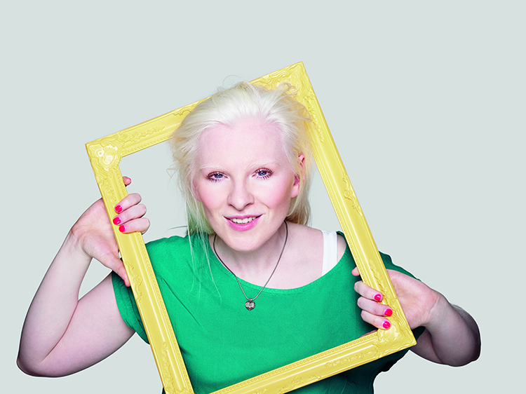 Kelly Gallagher in a photo frame
