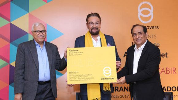 Actor and director, Kabir Bedi, becoming becoming a celebrity ambassador for Sightsavers India.
