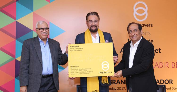 Actor and director, Kabir Bedi, becoming becoming a celebrity ambassador for Sightsavers India.