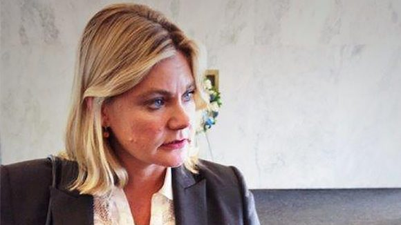 Justine Greening, Secretary of State for International Development.