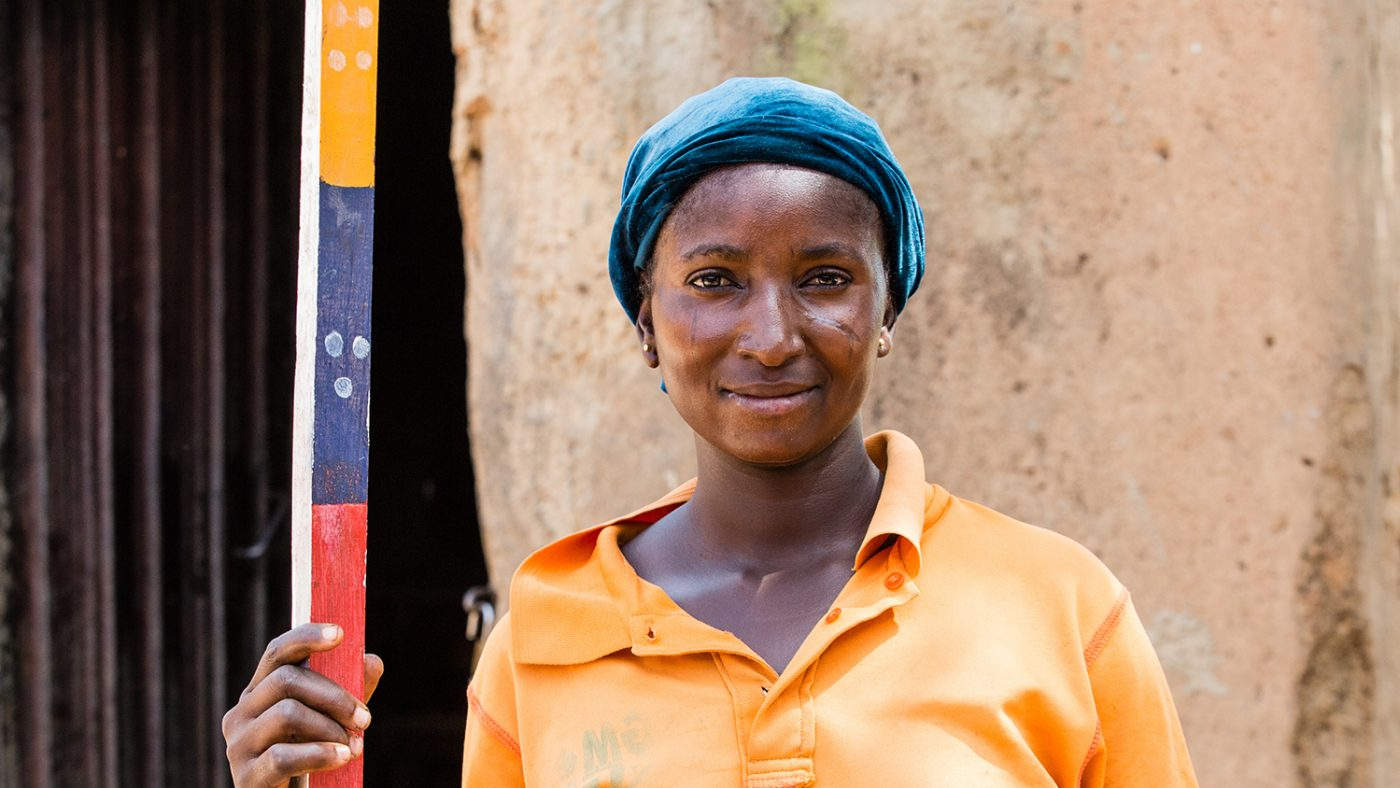 A community worker from Sightsavers' NTDs campaign.