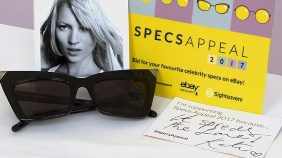 Celebrity Kate Moss's donated sunglasses