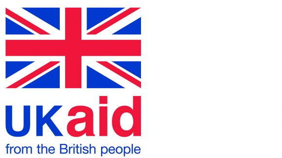 The UK Aid logo, showing a union jack and the words: 'UK Aid: from the British people'.