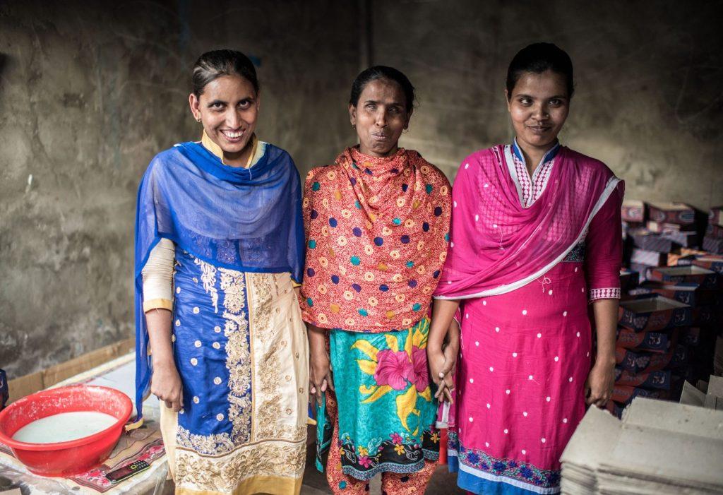 Ranu, Hanufa and Juthika, the owners of Satata Enterprises.