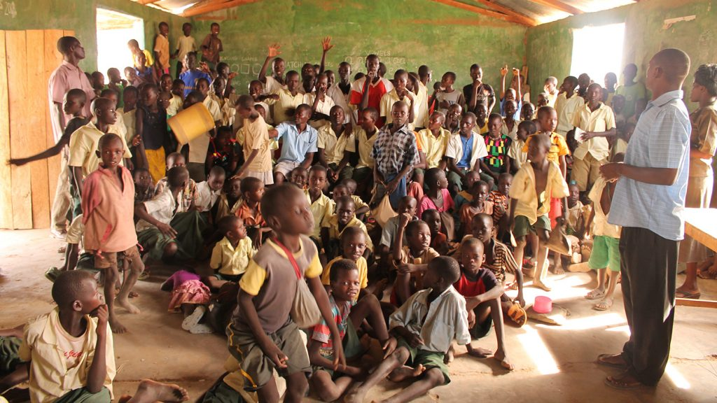 Kachiemeri school children in class.