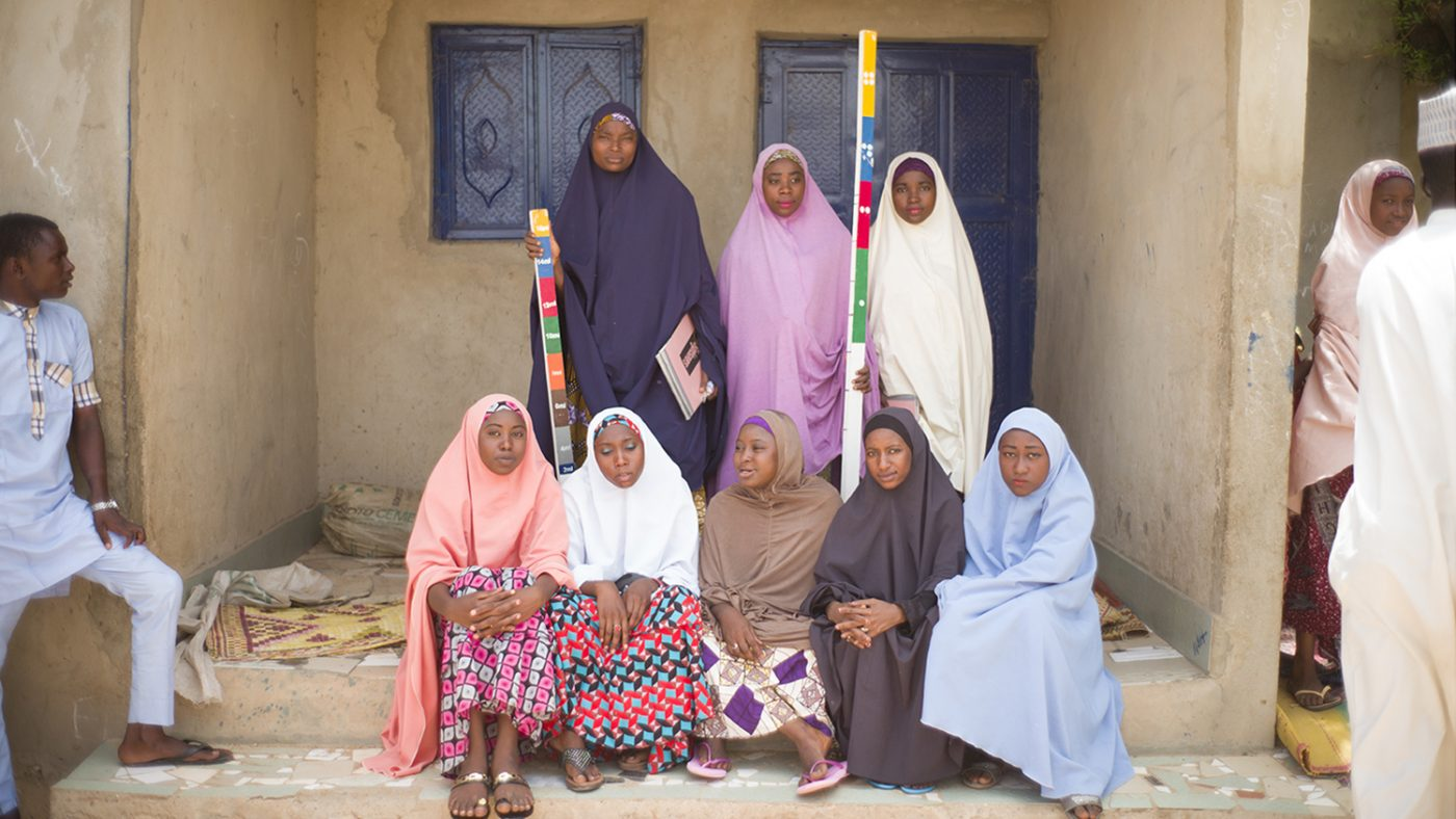 A group of female community-directed distributors in Nigeria, who distribute medication among their communities to treat neglected tropical diseases.