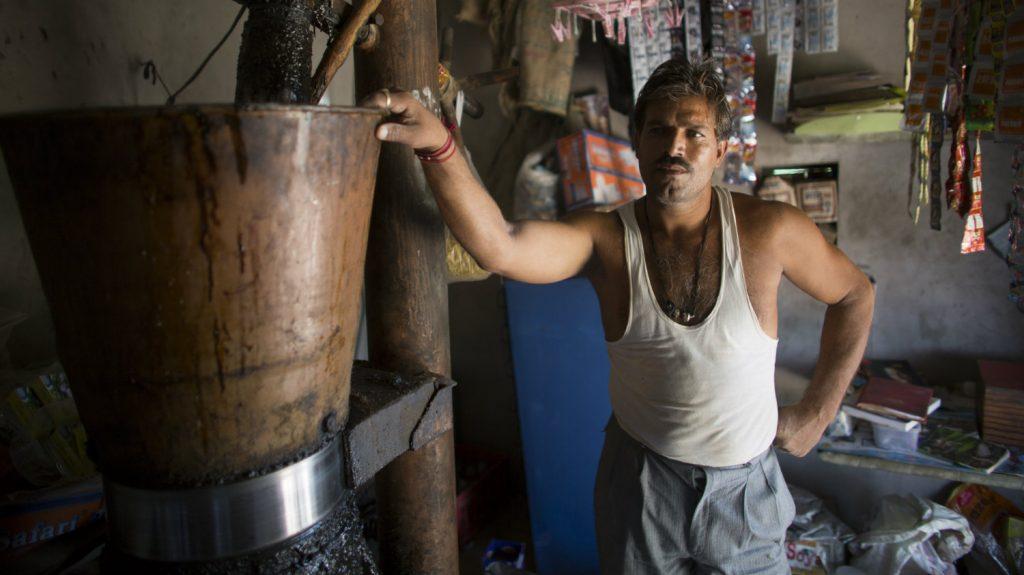 Bhagirath runs a provision shop.