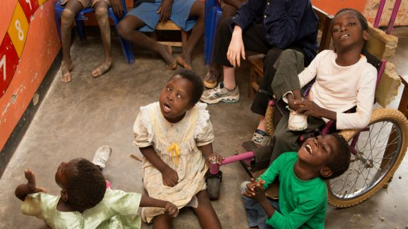 In Malawi, a group of students receive Early Childhood development education.