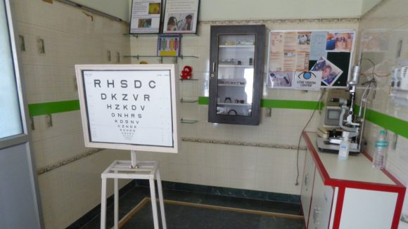 An eye health clinic in Bhopal, India.