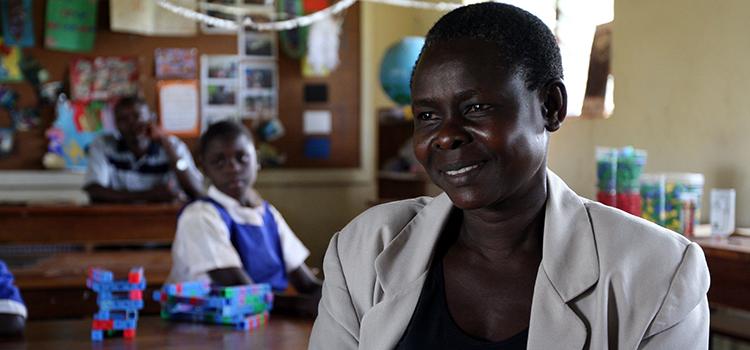 Harriet Nyendwoha is an itinerant teacher.