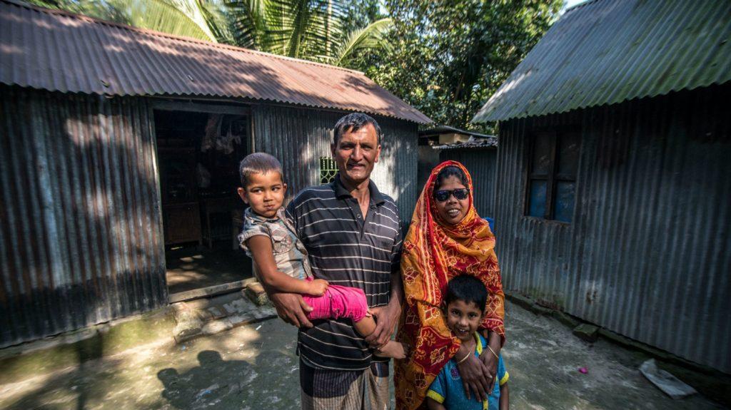 Jaharana with her family.