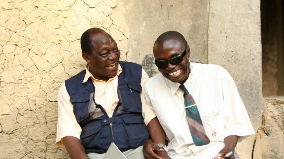 Samuel with Foray Alpha, his rehabilition officer.
