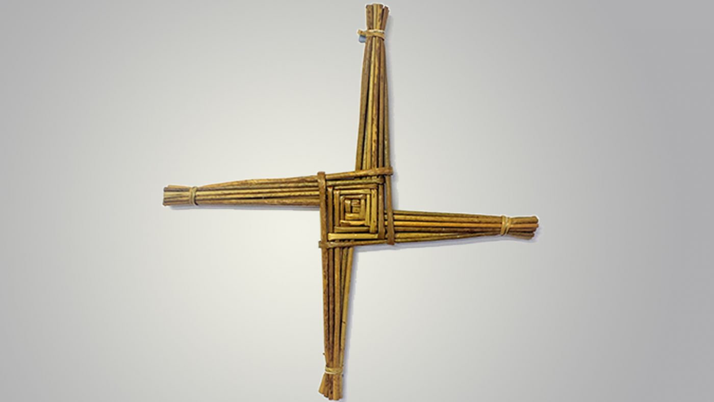 A St Bridget's Cross made by Patricia.