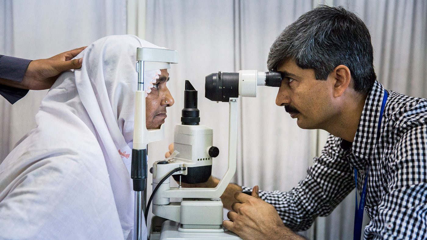 Zamurrad has her eyes screened.