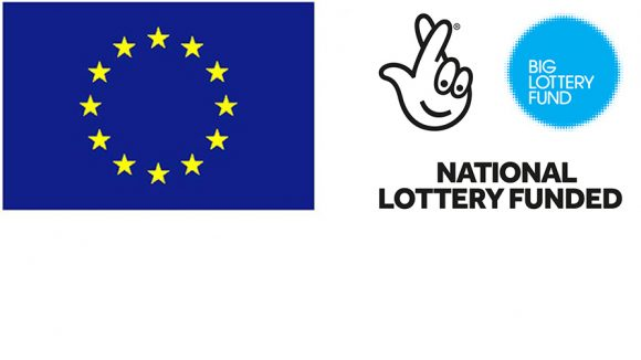 The European Union and National Lottery logos.