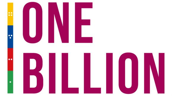 Sightsavers' One Billion logo.
