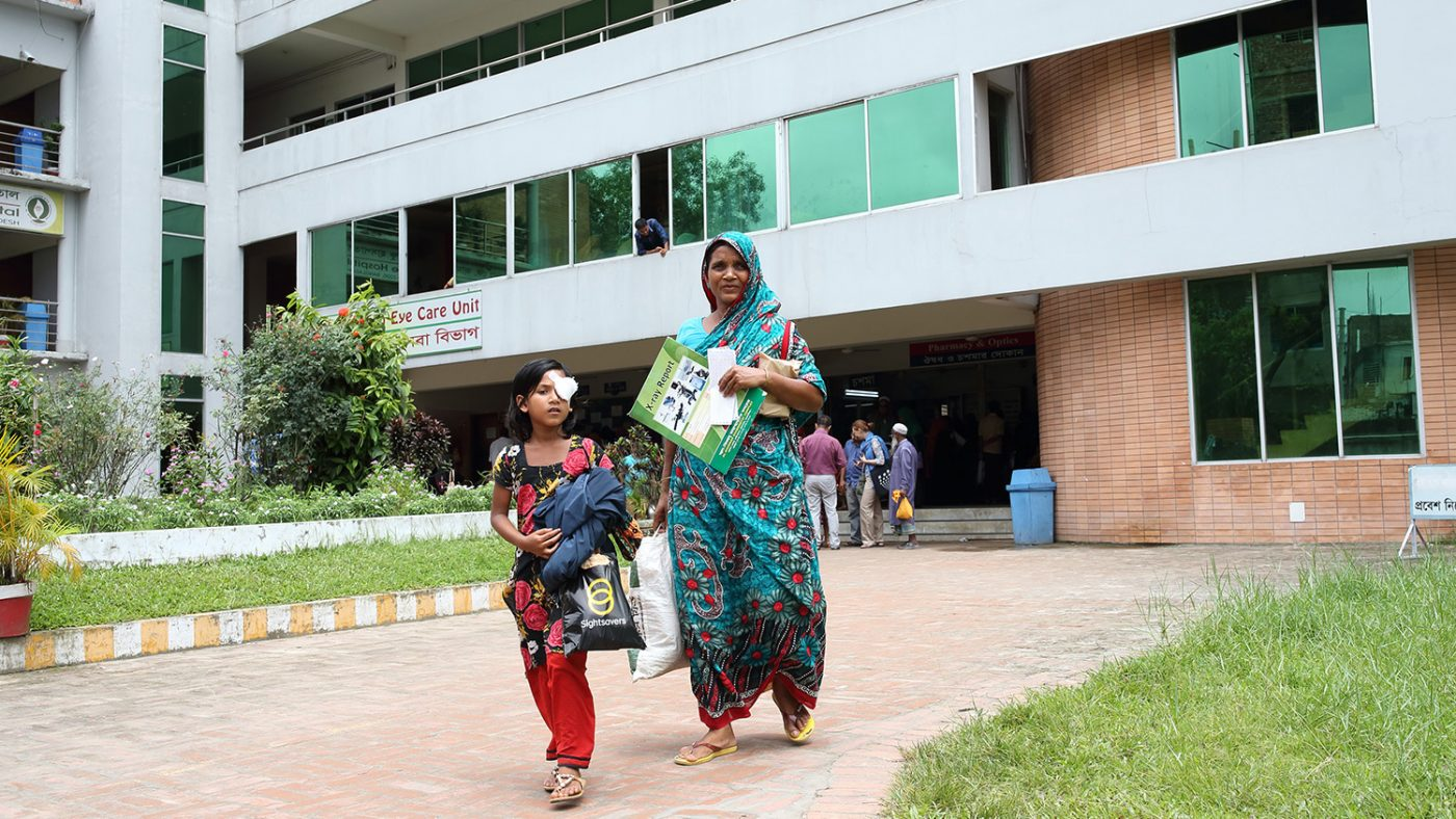 Suborna and her mother leave the hospital together.