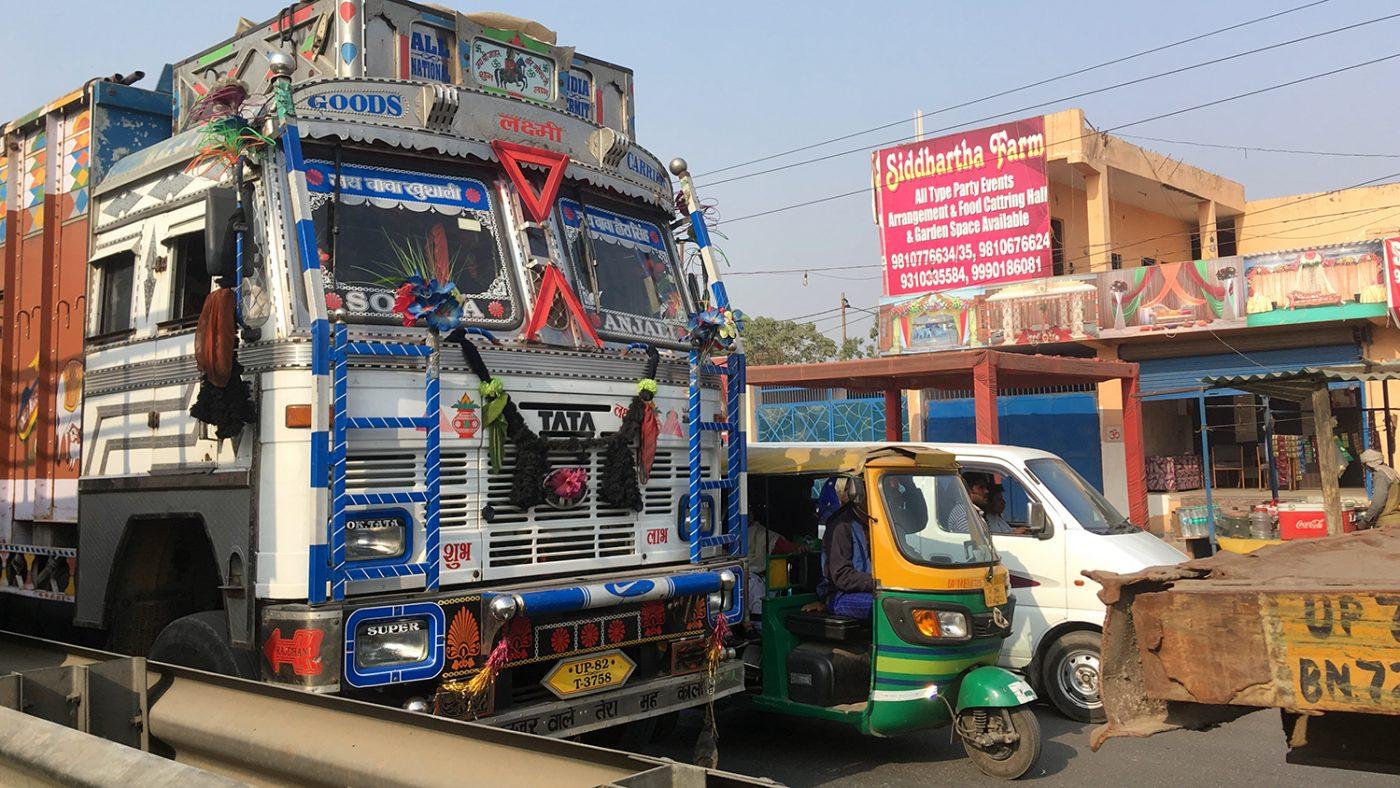 Traffic in Bhopal.