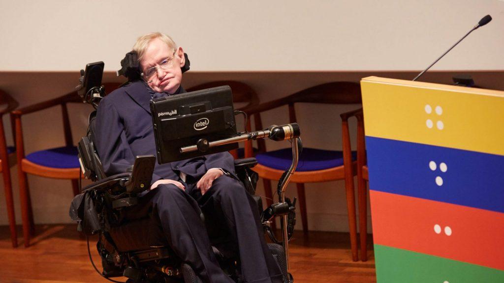 Professor Stephen Hawking at the Sightsavers celebration of a billion NTD treatments.