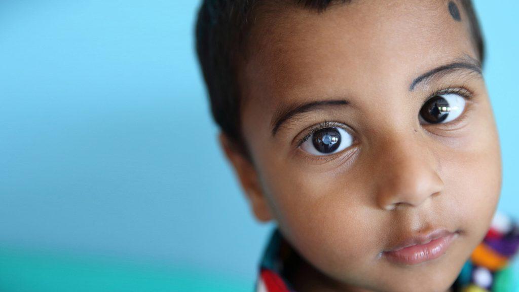 Three-year-old Nadir from Bangladesh.
