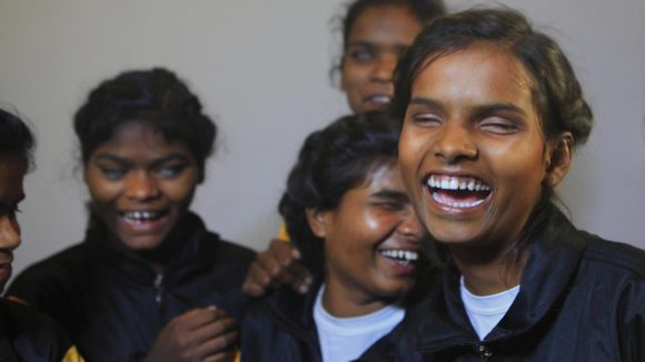 A group of girls laughing