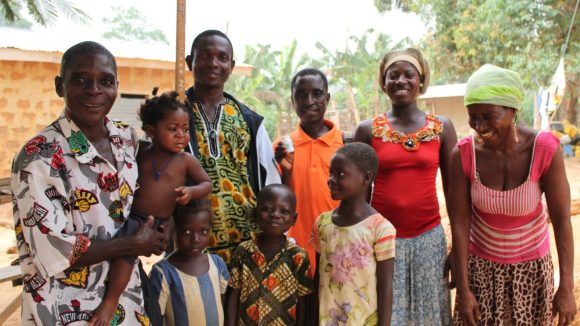 Kwaku Anim with his family in Ashanti, Ghana.