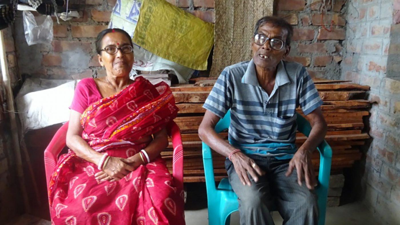 Kalpana Biswas and her husband Amal.
