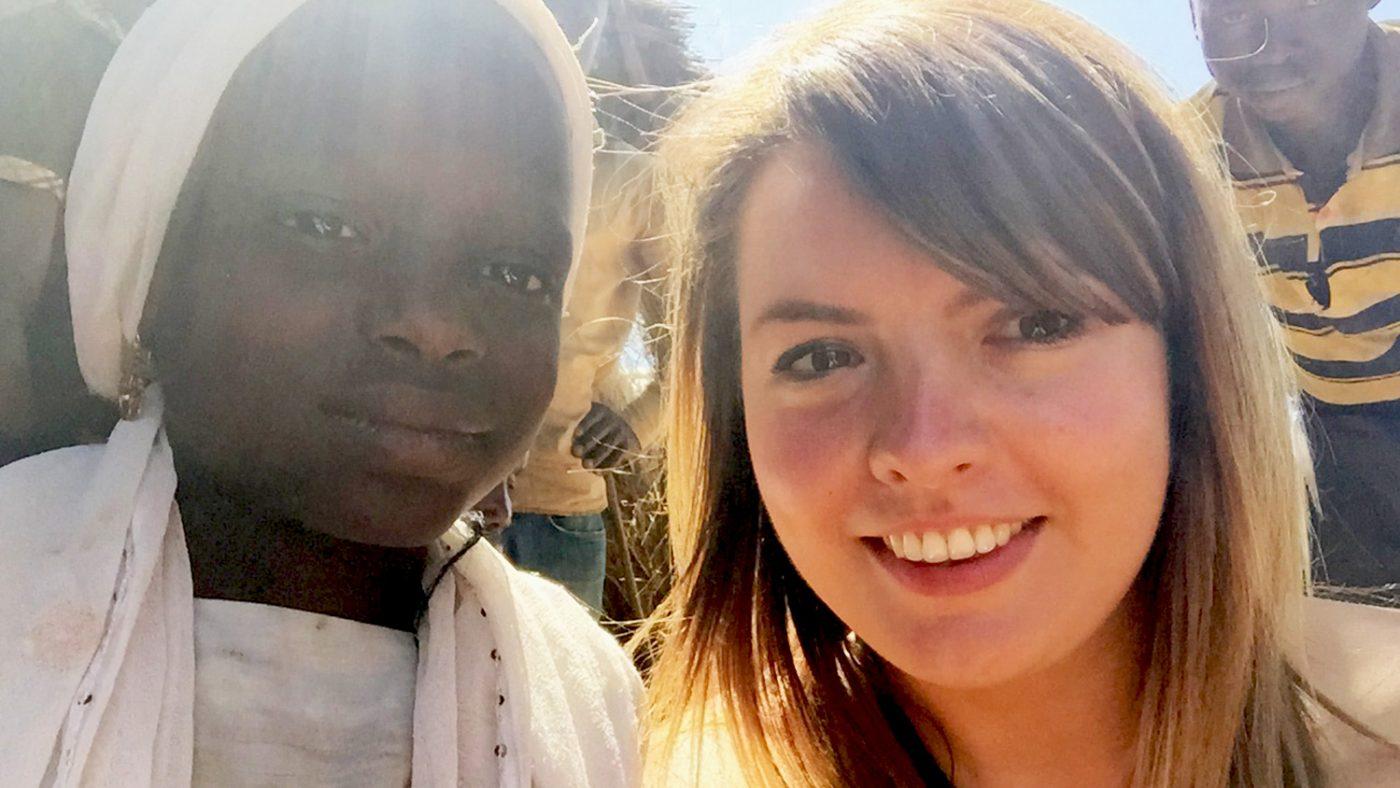 Rebecca takes a selfie with Dorcas, in Nigeria.