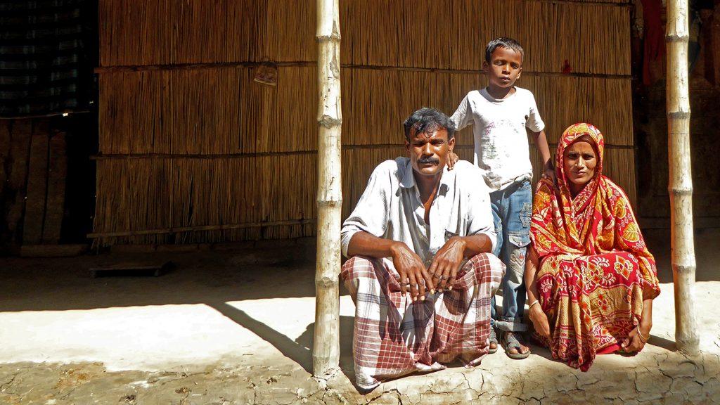 Majidul and his family.