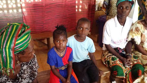 Children at the eye care unit at Kenema in Sierra Leone