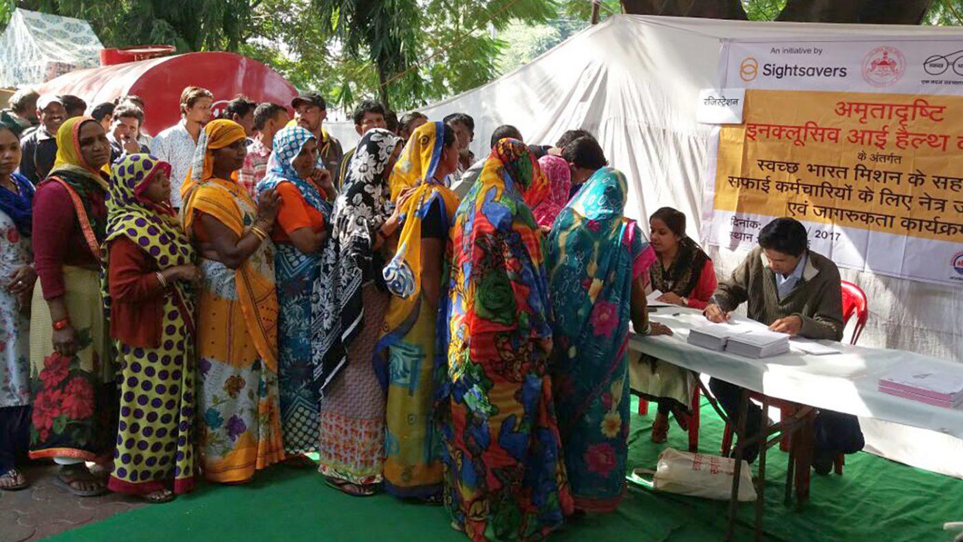 Eye screening in Bhopal.