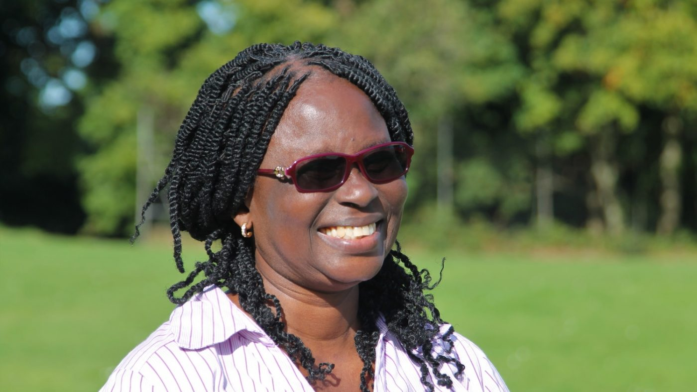 Gertrude Oforiwa Fefoame smiling.