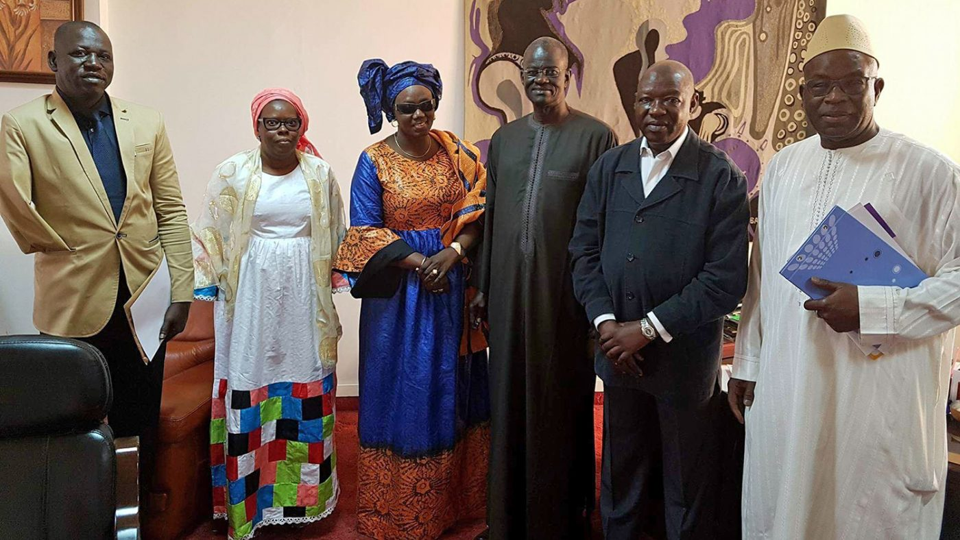The team who are working to ensure elections in Senegal are inclusive.