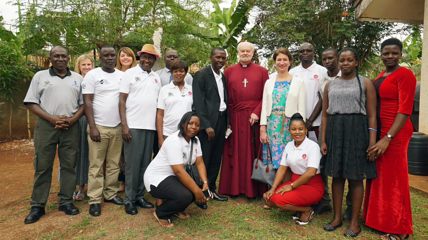 Lord Chartres and staff and partners from the Trachoma Initiative.
