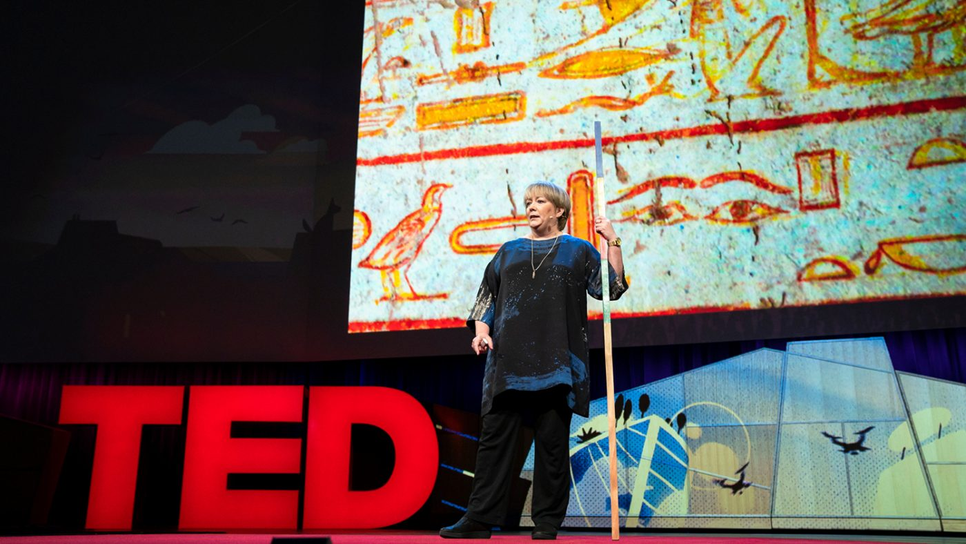 Caroline Harper speaks at TED2018.