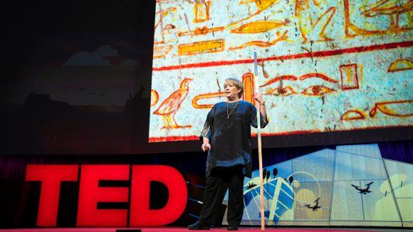 Caroline Harper speaks at TED2018.